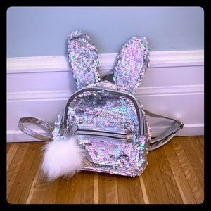 Justice bunny mini backpack